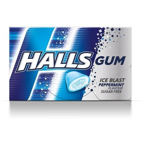 HALLS 18 G GUM PEPPERMINT