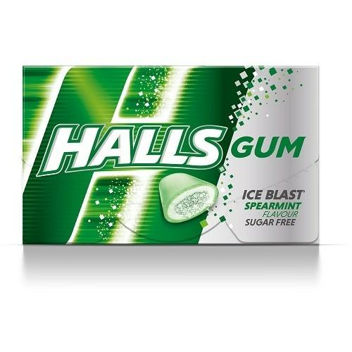 HALLS 18 G GUM SPEARMINT