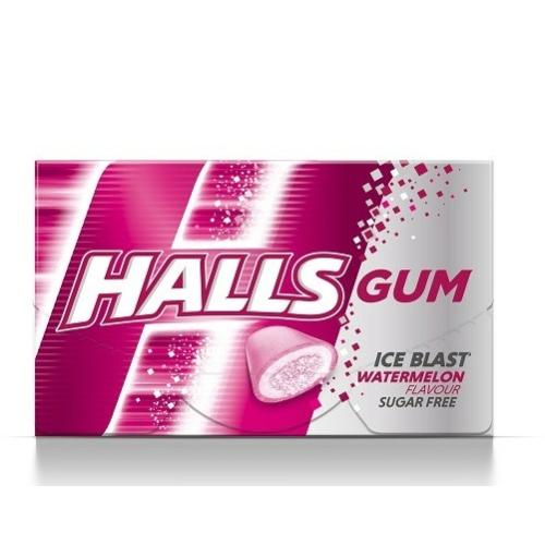 HALLS 18 G GUM WATERMELON