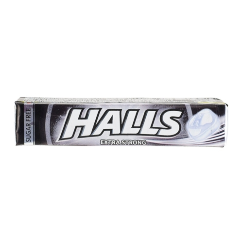 HALLS  33,5 G EXTRA STRONG FEKETE