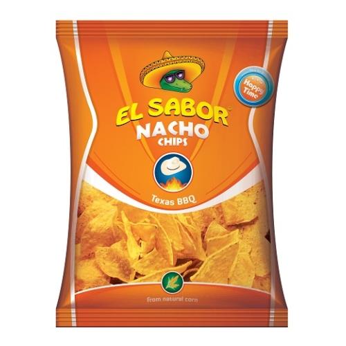 EL SABOR NACHO CHIPS 100 G TEXAS BBQ