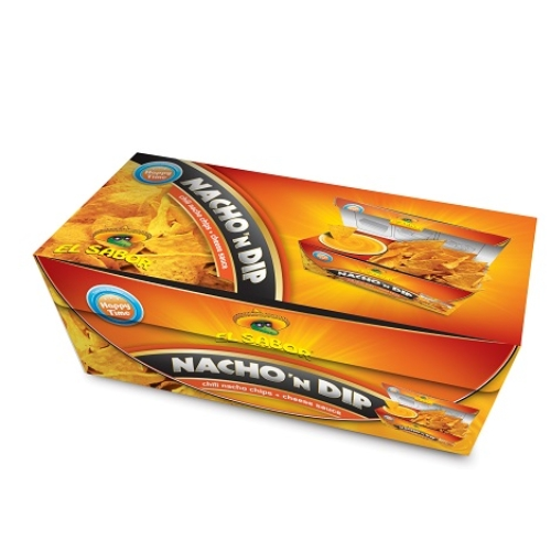 EL SABOR NACHO N'DIP 175 G CHEESE /CHILI CHIPS+CHEESE DIP/