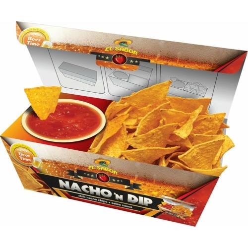 EL SABOR NACHO N'DIP 175 G SALSA /SALTED CHIPS+SALSA DIP/